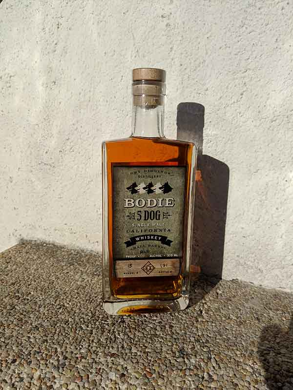 Bodie 5 Dog California Single Malt Whiskey