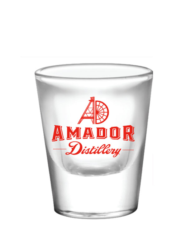 Shot Glass - Amador Distillery logo